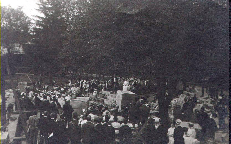 Laying the cornerstone of Bentley Hall, Centenary Pageant, 1915