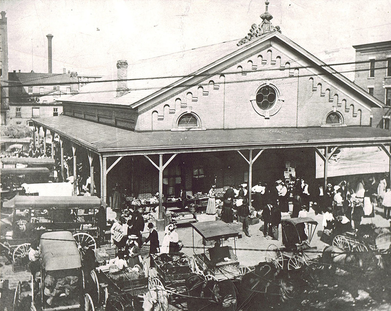 Early View of the Market House.
